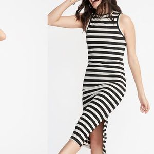 Buy 2 Get 1 FREE Sleeveless striped Jersey Dress L